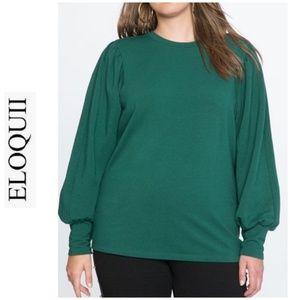 new ELOQUII puff sleeve blouse shirt 22 24